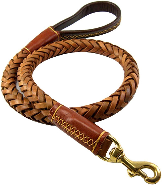 Pet Online Large dog dog chain, eight strand thick leather round rope, large dog dog chain, German Shepherd Dog rope
