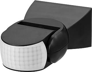 Maclean MCE201B Maclean Universal infrarood bewegingsmelder met schemeringssensor instelbaar (12m 180° IP65, zwart)