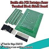 ARCELI Prototype Screw/Terminal Block Shield Board Kit Arduino MEGA 2560 R3 DIY Soldered