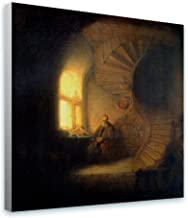 Alonline Art - Philosopher In Meditation by Rembrandt   print on canvas   Ready to frame (synthetic, Rolled)   12