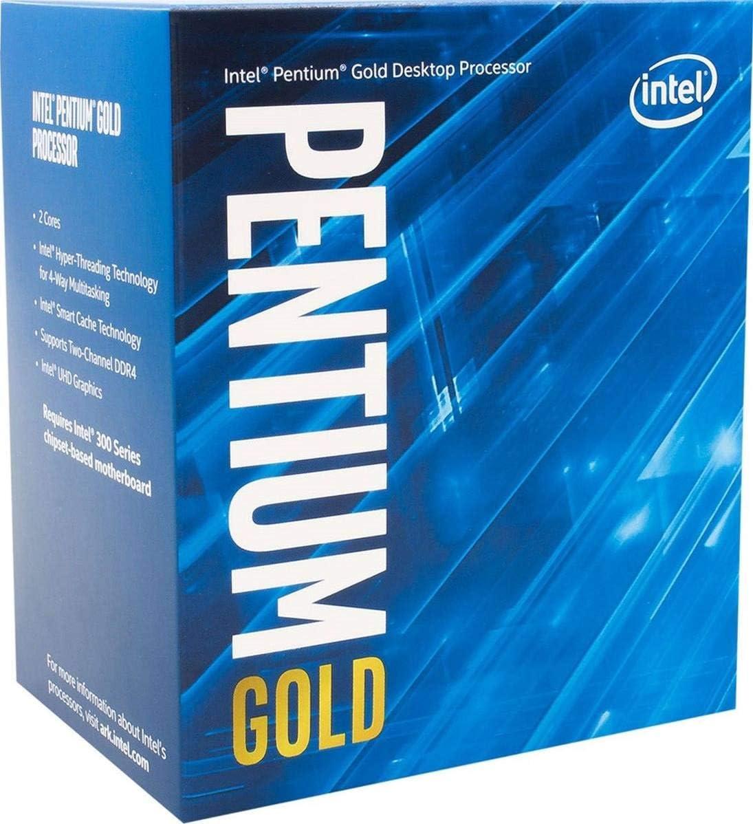 Intel Core G6400 (Velocidad Base: 4,00 GHz; zócalo: LGA1200; 58 W).