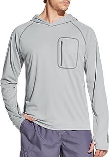 TSLA Swimwear Short Sleeve Top UV Protection UPF 50+ Quick-Dry Rash Guard for Men