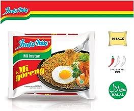 Indomie Mi Goreng Instant Stir Fry Noodles, Halal Certified, Original Flavor (Pack of 10)