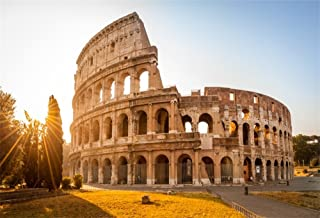 OFILA Italy Backdrop 6x4ft Roman Colosseum Background Flavian Amphitheatre Ancient Architecture Column Europa Empire Italian Historical Landmark Ruins Stadium Stone Theatre Photos Studio Props