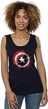 Marvel Mujer Avengers Captain America Art Shield Camiseta Sin Mangas