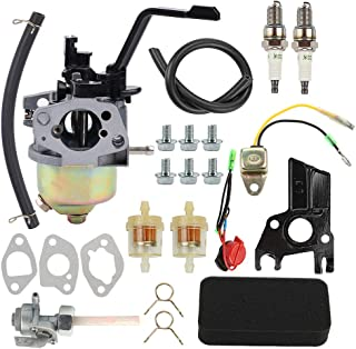 Coolwind GX200 Carburetor with Air Fuel Filter Line Tune Up Kit for GX120 GX160 GX 200 168F 5.5HP 6.5HP 163cc 196cc Engine Champion Power Equipment 3000 3500 4000 Watts 6.5 HP Gas Generator