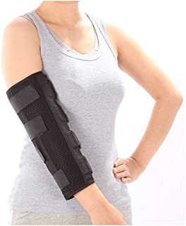 Elbow Brace Splint Arm Ulnar Nerve Cubital Tunnel Syndrome Brace Elbow Immobilizer Adult Tennis Arm Stabilizer PM Night Splint Radial Nerve Sleep Restraints Wrap (Medium)