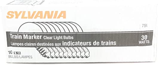 Pack Of 10 Sylvania 30S11DC//75 Train Marker Clear Light Bulbs 30w 75v-dc