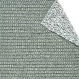 tenax Rete Tessuta Schermante e Ombreggiante, Soleado Duo 4,00x3 m, Double-Face Bianco-Grigio, 4x3 m