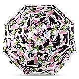 LYJZH Taschenschirm – Reise/Golfschirm, leicht stabil Kompakt Schirm für Reisen & Business Regenschirm dreifachgefalteter Sonnenschutz Sonnenschirm Farbe3 100cm