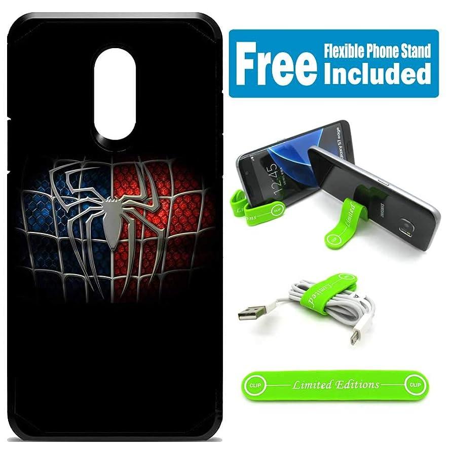 for Samsung Galaxy [J7 2018] [J7 Star] [J7 Refine] [J7 Aero] [J7 Eon] [J7 Crown] [J7 Aura] Defender Rugged Hard Cover Case - Spider Man Logo Black