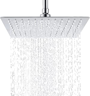 12 Inch Rain Shower Head, High Pressure Stainless Steel Bath Shower, Ultra Thin Rainfall Showerhead Waterfall Body Covering