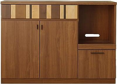 ガルト(Gart) 食器棚 ブラウン 幅120cm ルカ カウンター