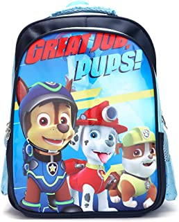 Paw Patrol Kids Backpack,Toddler Preschool Backpack,Cartoon Waterproof Large Capacity Backpack for Boys (Blue, paw patrol)