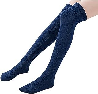 962250f75 Ordenado Womens Spring Sexy Over Knee Leg Warmer Crochet Thigh High Boot  Socks Girls Leggings