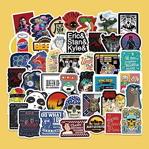 XXCKA 50 Ins Wind Cartoon Graffiti Stickers Scooter Laptop Teléfono móvil Coche Motocicleta Decoración Pegatinas
