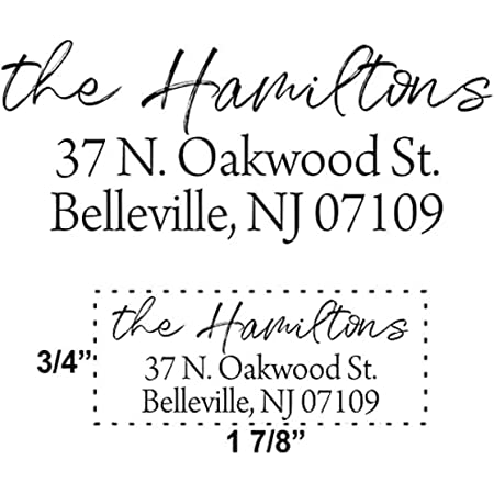 Custom Self Inking Address Stamp - Personalized Return Address Stamps - 8 Ink Colors Available - Hand Lettered Brush Script | Thousands of Impressions