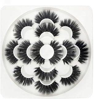 TOOGOO 3D Wispies False Eyelashes Dramatic Lashes Bulk Extensions With Volume For Girl/Men Makeup Handmade Soft Eyelash,7Pack