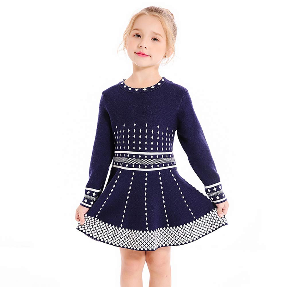 black-knit-dress-for-little-girls
