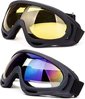 DODOING Ski Goggles, Snowboard Goggles with UV 400 Protection, Windproof, Dustproof, Anti-Glare Lenses Goggles for Motorcy...