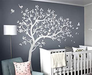 Baby room tree wall decal Nursery wall decor Tree with bids decal set KW032R