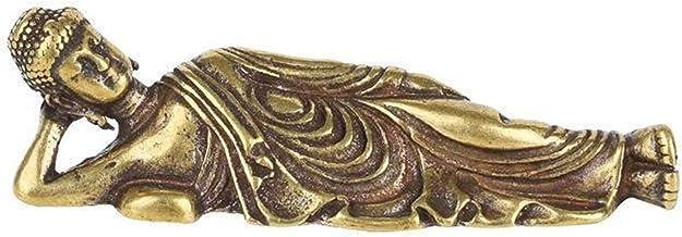 Mini Retro Golden Lying Amitabha Buddha Statue Buddha Sculpture Figurines Copper Pure Brass Home Decoration Buddha Statues...