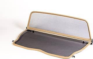 beige pour Mercedes SL R107 1971-1989 D/éflecteur de vent pliable avec fermeture rapide D/éflecteur dair GermanTuningParts Filet Anti-Remous Coupe