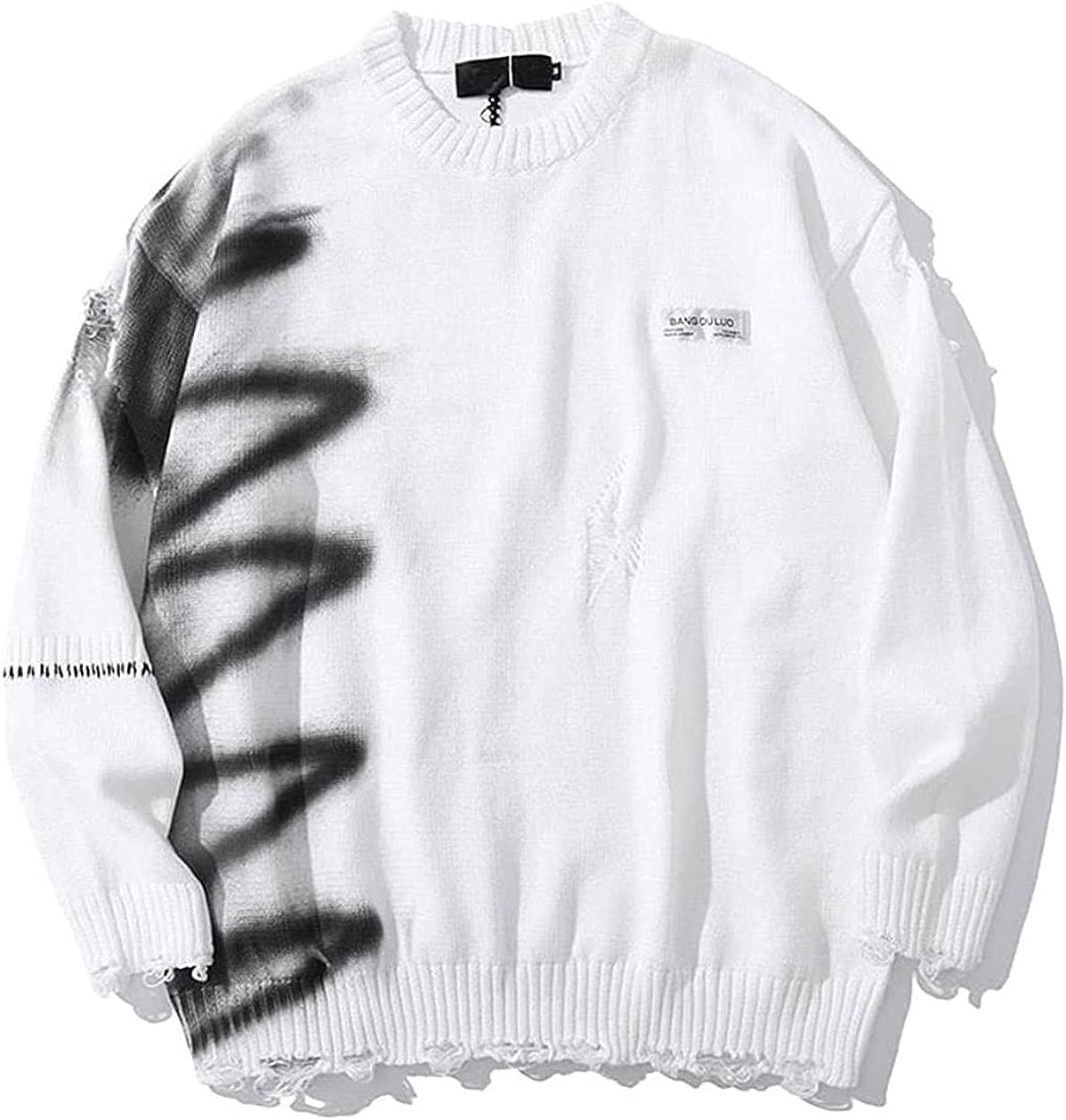 JOAOL Men Autumn Streetwear Hip Hop Pullover Hole Oversize Couple Sweater