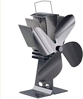 Fireplace Fan, 4-Blade Furnace Fan Silent Thermal Wood/Log Burner Fan Environmentally Friendly Hot Air Circulation For Fireplace