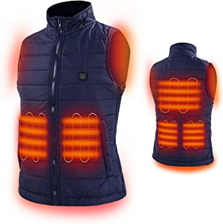 HOOCUCO Heated Vest, Washable Size Adjustable USB Charging,3 Temp Setting Heating Warm Vest for Outdoor Camping Hiking Golf Rechargeable Heated Clothes Warm for Men Women (Battery not Include