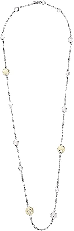 Dot Hammered Station Necklace