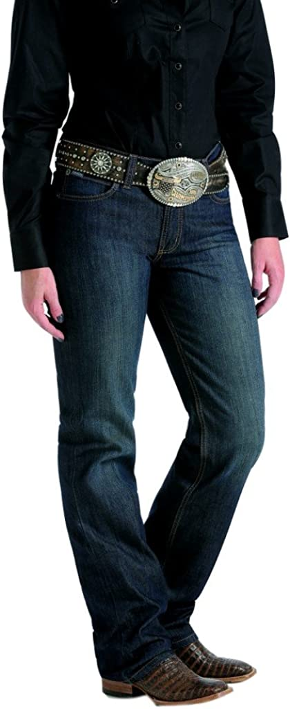 Cinch Western Denim Jeans Women Jenna Relaxed Straight Dark MJ80152071