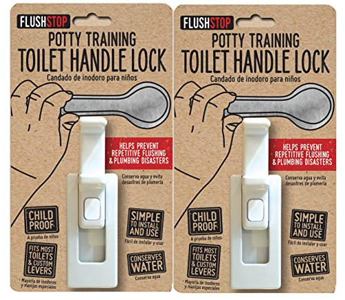 Product Image of the Childproof Toilet Handle Locks (1-Pack, Red Button)
