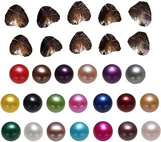 Milky Way - 20 perlas cultivadas en agua dulce de 7 a 8 mm, postres con perlas redondas en el interior