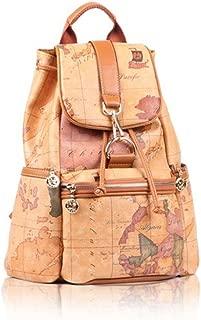 Faux Leather Vintage Novelty World Map Backpack Travel Lacing Bag Hot