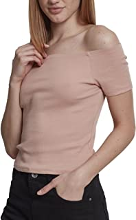 Urban Classics Ladies Off Shoulder Rib tee Camiseta para Mujer