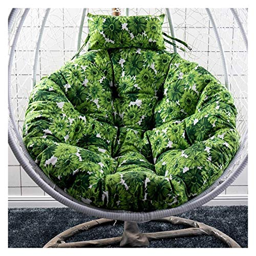 Home Decoration Swing Chair Cushion Round Papasan Chair Cushion With Pillow, Thicken Hanging Egg Hammock Chair Cushion Without Stand, Egg Nest Swing Chair Cushion Hanging Basket Furniture Cushion LLNN
