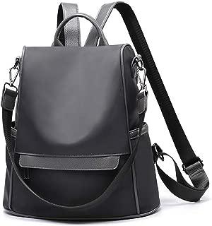 AnewGeek PU Leather Zipper Backpack Fashion School Shoulder Bag Handbags for Women Teenage Girls