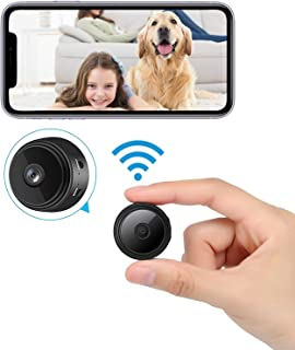 2021 New Version Mini WiFi Hidden Cameras,Spy Camera with Audio and Video Live Feed,with Cell Phone App Wireless Recording...