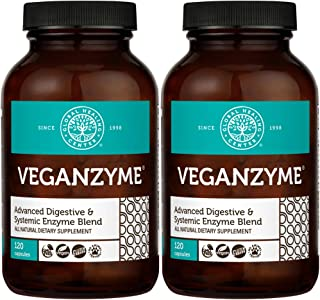 Global Healing Center Veganzyme Full Spectrum Digestive Enzyme Supplement, 120 Capsules (2 Pack)