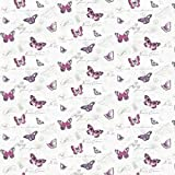MyTinyWorld 5er Pack Puppenhaus Schmetterlinge auf Weiß Tapete Blätter