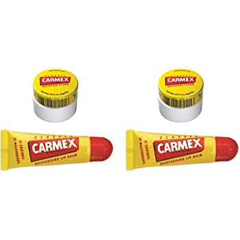 Carmex Lip Balm Pot + Tubo de bálsamo labial Original Duo Pack (2): Amazon.es: Belleza