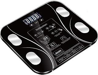 BXU-BG Balanza Industrial báscula de baño, balanzas electrónicas, bascula Pantalla LCD Digital, Cuerpo de pesaje Digital Escala de Peso Corporal, 180kg, Negro
