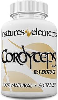 Cordyceps Sinensis Mushroom - Standardized 8:1 Extract - 7% Cordyceptic Acid - Immune Support - 1,000 mg Per Serving - 1 M...