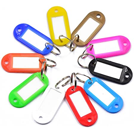 FITYLE 10 Stück Schlüsselanhänger zum Beschriften Schlüsselschilder Schlüssel Schild Schilder Anhänger