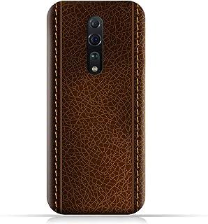 AMC DesignOPPO Reno Z TPU Silicone Case with Brown Leather Pattern