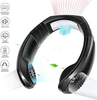 Mini Ventilador De Cuello Colgante De Aire Acondicionado Portátil, Collar De Sistema De Enfriamiento Personal De 3 Velocidades, Trabajo Recargable Silencioso USB