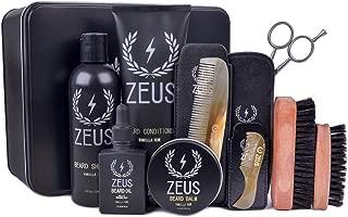 Zeus Ultimate Beard Care Kit Gift Set for Men - The Complete Beard Grooming Kit for Men for Softer, Touchable Beards (Scent: Vanilla Rum)