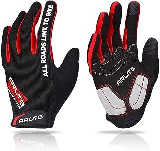 Arltb - Guantes de ciclismo para invierno, 3 tamaños, 3 colores, almohadillas de dedos completos, transpirables, ligeros, ...