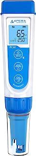 Apera Instruments PC60 Testeur de poche multi-paramètres pH/EC/TDS/salinité avec sonde remplaçable, étanche, ± 0,01 pH/1% ...
